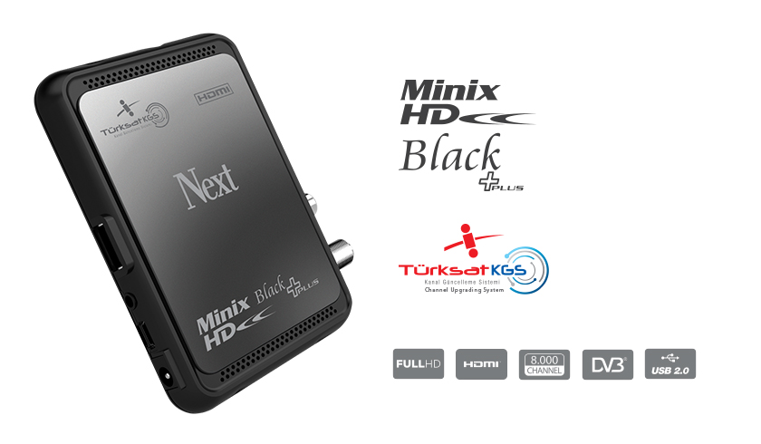 Next  Minix HD Black + Plus TKGS Uyumlu